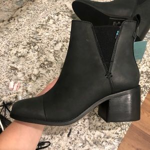Brand new black toms booties tags still on